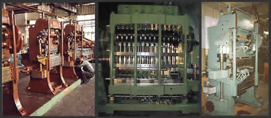 Transfer Press Machines, Four-slides, Multi-slides, eyelet machines